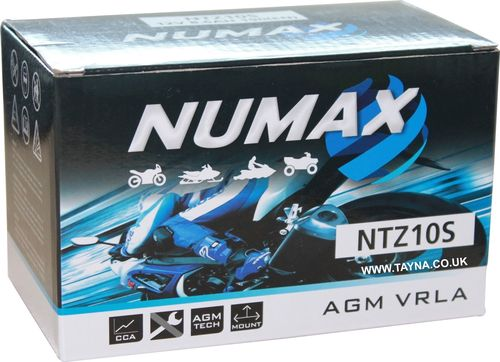 NUMAX Motorcicle Battery 12V from 8.6AH  to 12AH Sealed With Acid Pack
