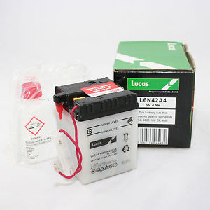 LUCAS Motorcicle Battery 6V 4AH   With acid pack