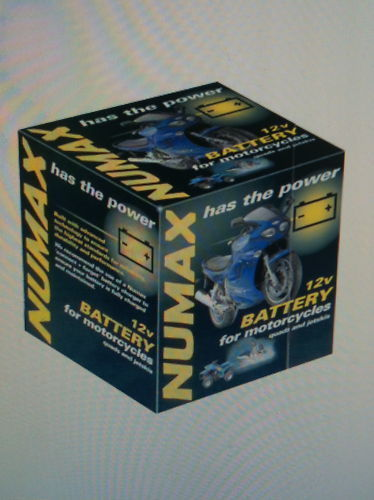 NUMAX Motorcicle Battery 12V 11AH Sealed With Acid Pack