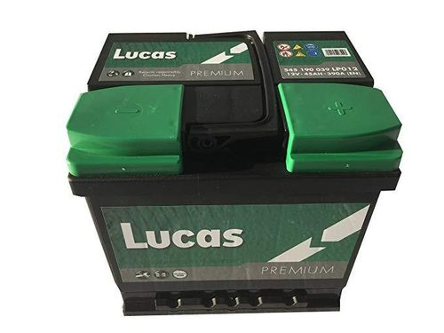 Lucas Premium Car Battery 12V 45Ah 390 CCA(EN)