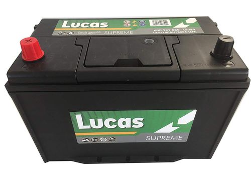 LUCAS Supreme Car Battery 12V 100Ah 800 Amps (in)