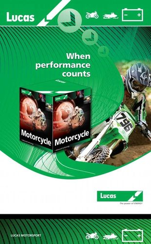 LUCAS Motorcycle Battery 12V 18Ah-AGM Liquifix-