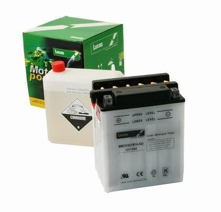 LUCAS Motorcycle Battery 12V 12Ah 150(CCA) Sealed With Acid Pack (134x80x160)