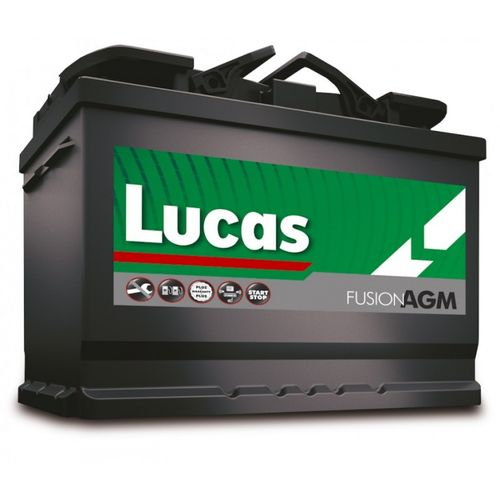LUCAS StartStop AGM Fusion Car Battery 12V 55Ah (230x170x225)