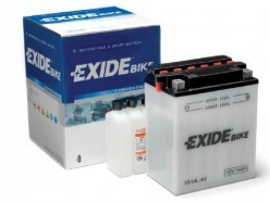 EXIDE Motorcycle Battery 14Ah 12V 145CCA with Acid Pack (135x90x165)